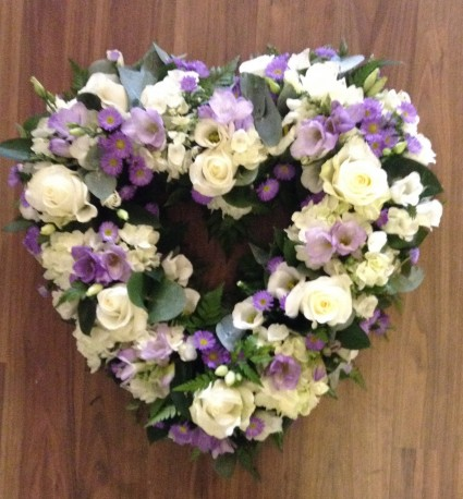 Lilac And White Open Heart