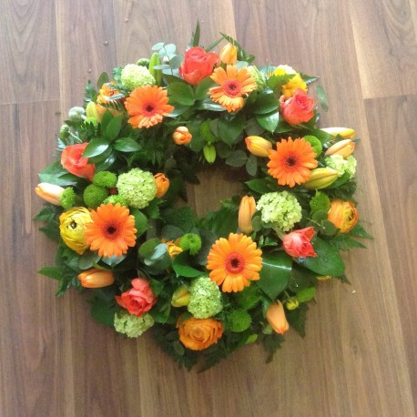 Orange And Lime Green Wreath