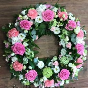 Pretty Pink and White Wreath