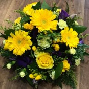 Yellow Gerbera and Purple Posy