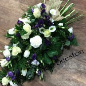 Purple and White Woodland Spray