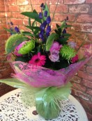 Cerise Pinks, Purples and Lime Green Hand Tied