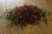 Rose and Carnation Casket Spray