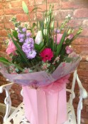 Pretty Lilac And Pink Hand Tied