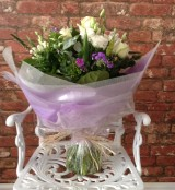 Lilac and White Hand Tied